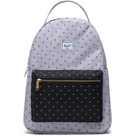 Herschel Nova Mid-Volume Sac à dos, polka dot crosshatch grey/black